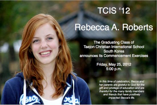 Becca Roberts Grad Announcement